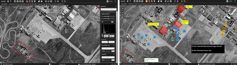 Delineate areas of interest and feature count – shown in M.App X dashboard